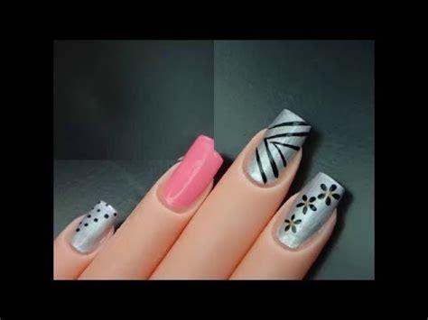 imagenes de uñas pintadas pinceladas u 209 as pintadas a mano youtube