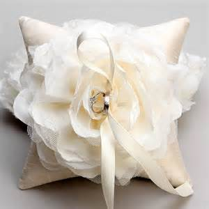 wedding pillow rings ivory flower ring pillow rustic wedding pillow bridal ring
