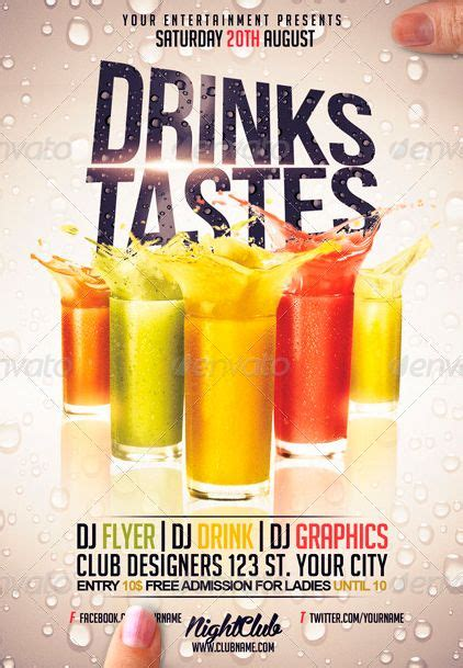 bar flyer templates free drinks restaurant bar flyer template http www ffflyer
