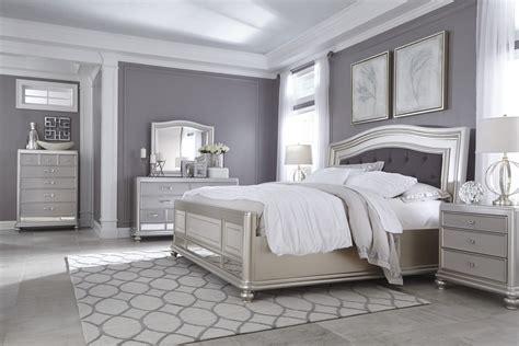 coralayne silver   pc king bedroom set