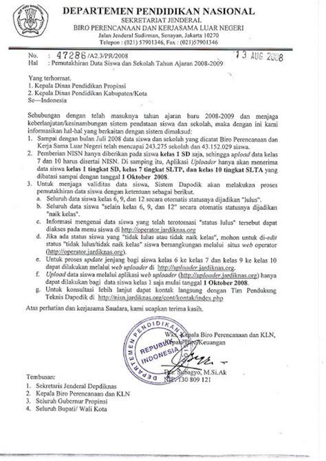 contoh surat dinas yang benar dan resmi sisilain net