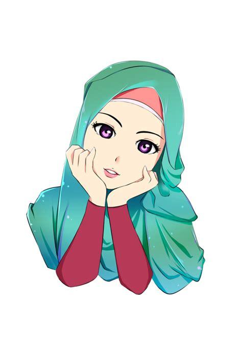 foto kartun hijab islami top gambar