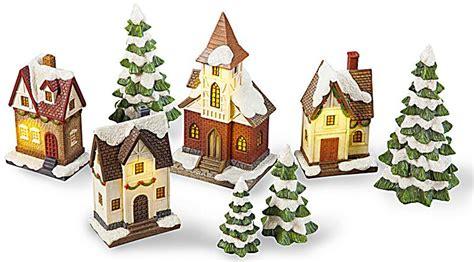 weihnachtsdorf mit beleuchtung weihnachtsdorf heimat mit beleuchtung 8 teilig weltbild de
