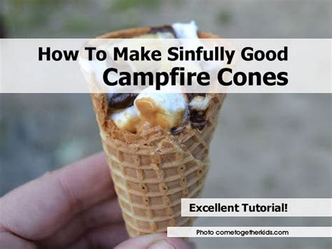 sinfully good campfire cones
