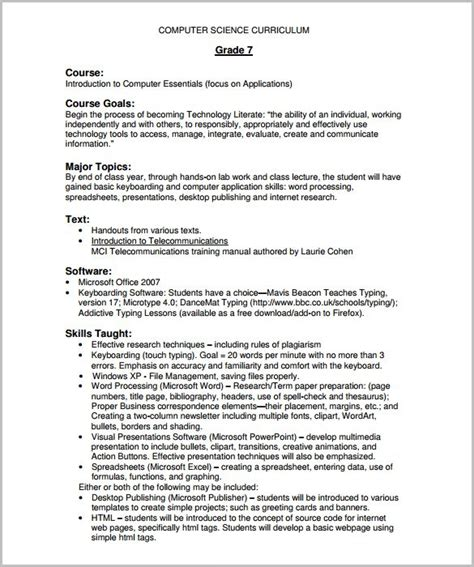 training course outline template 12 free sle