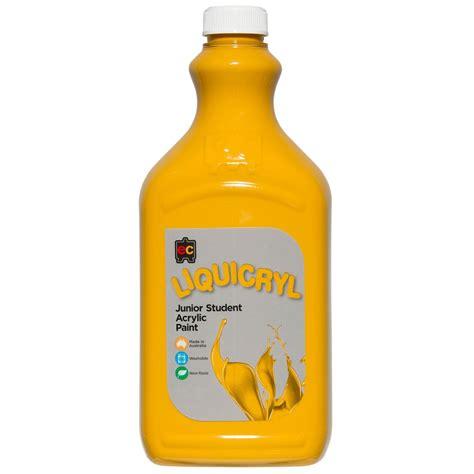 acrylic paint yellow ochre zeclc2yloc liquicryl junior acrylic paint 2 litre yellow