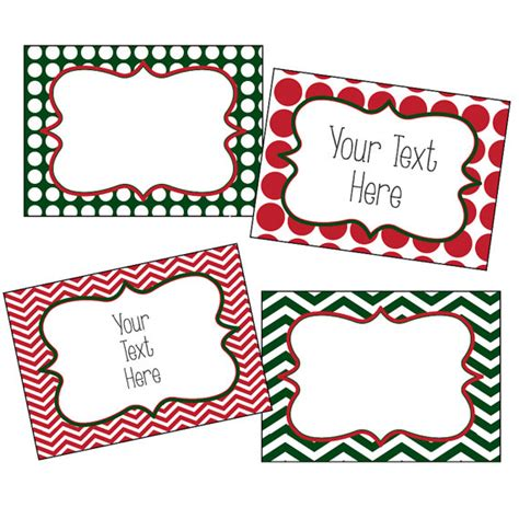 christmas labels editable christmas labels chevron and