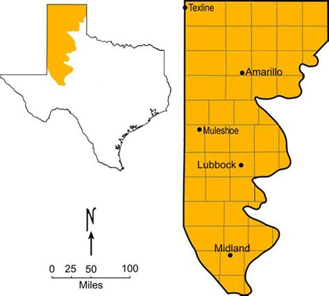 texas high plains map 47101studyaids