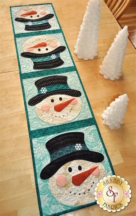 Patchwork Kit - patchwork snowman table runner kit