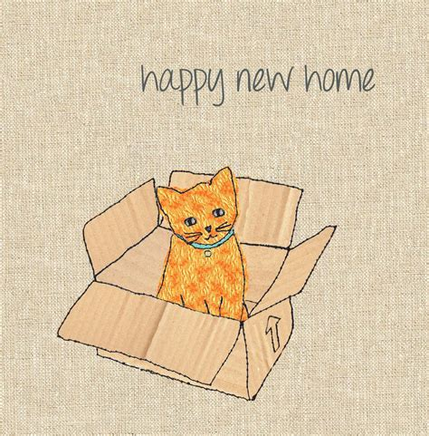 happy in your home finished cat new home card karenza paperie