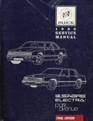 1994 buick park avenue and lesabre factory service manual 1988 buick lesabre electra and park avenue factory service manual