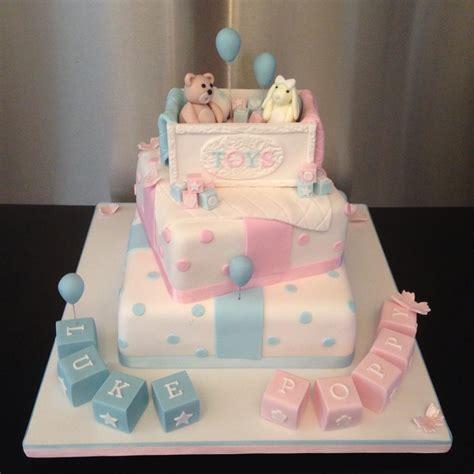 christening baby shower  gender reveal cakes sugarperfection