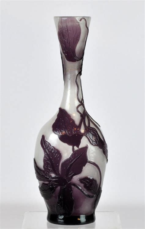 Plum Colored Vases by Galle Plum Colored Glass Vase
