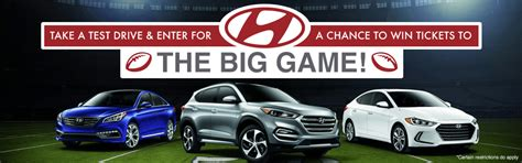 Football Hyundai Sweepstakes - free super bowl ticket sweepstakes only at houston car dealer texan hyundai newswire