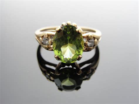 peridot engagement ring vintage onewed