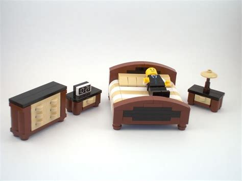 build a bedroom set lego furniture legos pinterest