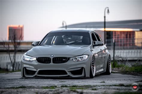 bmw m3 slammed grigio medio bmw m3 slammed on vossen wheels