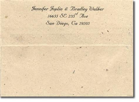 return address on wedding invitation envelope 6x12 invitaion package