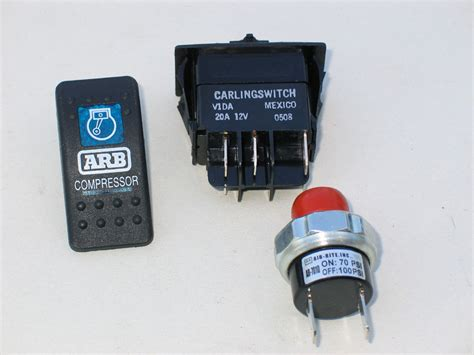 dash mounted compressor activation switch left