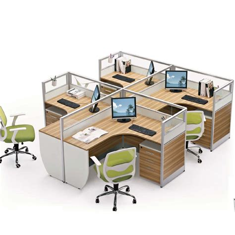 4 person workstation desk modern office furniture 4 person call center office