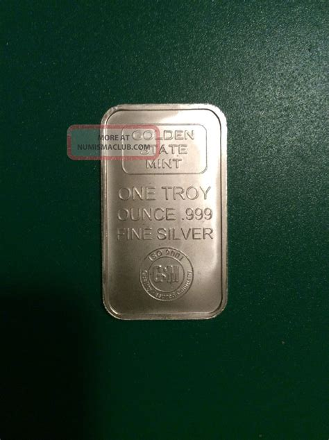 1 Oz Troy Silver Bar Value - 1 troy oz golden state 999 silver bar