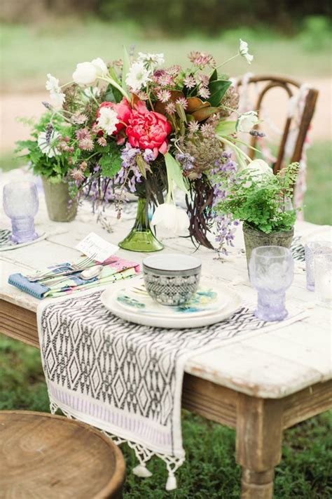 Austin Styled Bridal Session   Wedding Tables   Bohemian
