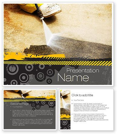 Pressure Washing Powerpoint Template Poweredtemplate Com 10769 3 Backgrounds 3 Masters Pressure Washing Template