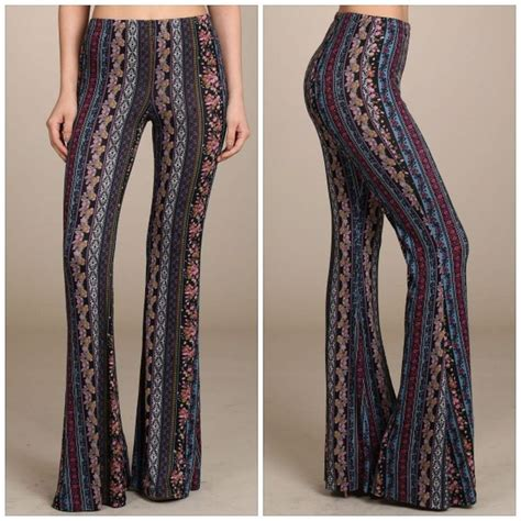 jersey knit palazzo details about desert boho hippie flare bell bottom