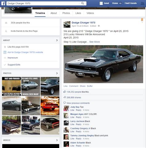 Charger Giveaway - dodge charger 1970 giveaway in facebook scam