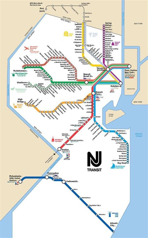 new jersey transit map nj transit rail lines map