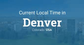 denver colorado time zone map current local time in denver colorado usa