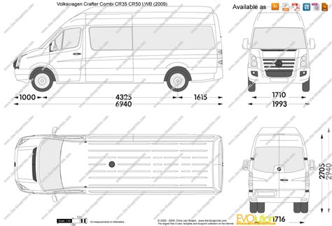 volkswagen crafter dimensions the blueprints com vector drawing volkswagen crafter