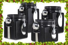 Black Ceramic Canister Sets Kitchen 1000 Images About Ceramic Canisters On