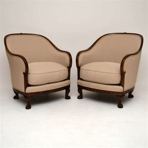large armchairs large pair of antique swedish satin birch armchairs