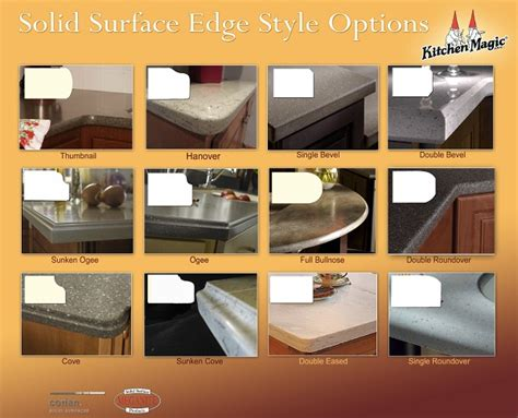 countertop styles 3 countertop edge styles that work best in large kitchens