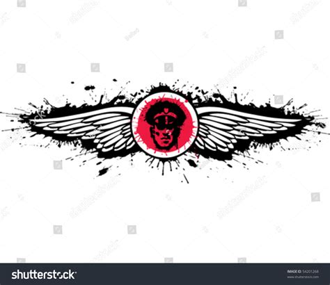 Wings Secutiry security wings stock vector illustration 54201268