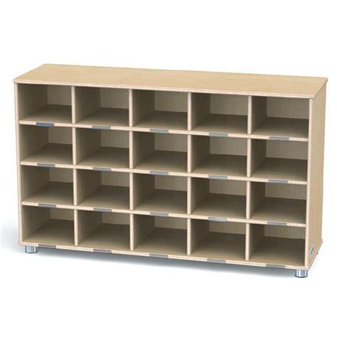truemodern twenty cubbie shelf without trays 1715jc