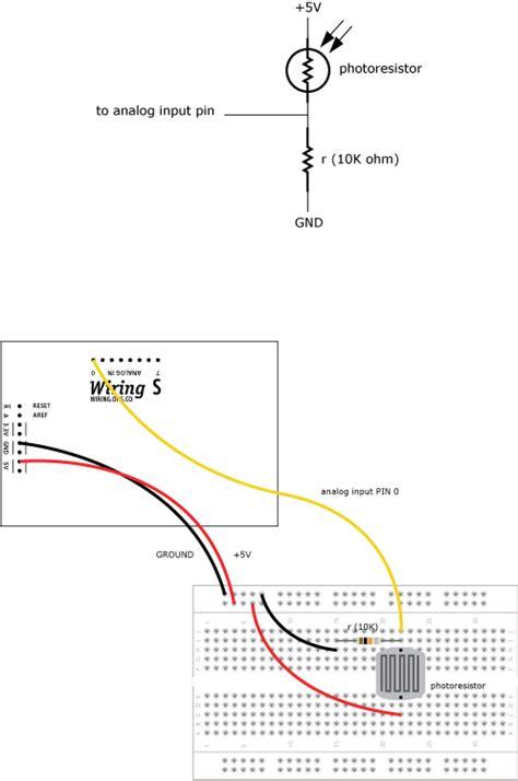 photoresistor resistance photoresistor learning wiring