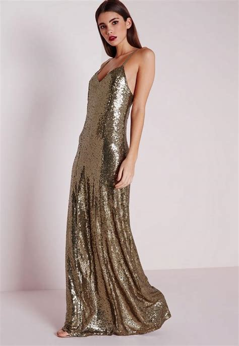 Maxi Miss Balotelli Premium 1 premium sequin maxi dress bronze missguided