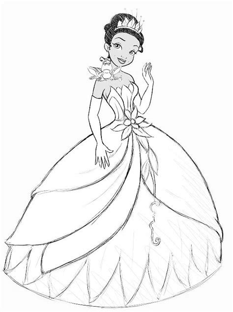 How To Draw Princess Tiana How To Draw Pinterest How To Draw A Princess Printable