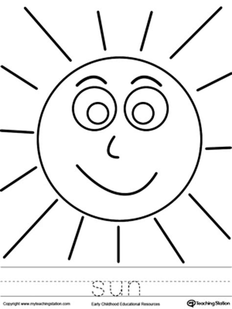 sun rays coloring page sun coloring page and word tracing tracing worksheets