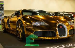 All Gold Bugatti Metro Wrapz Gold Chrome Vinyl Wrapped Bugatti Veyron