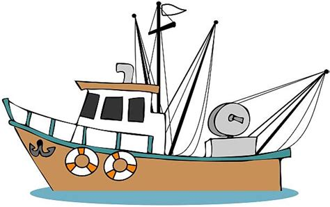 cartoon fishing boat fishing boat clip art vector images illustrations istock