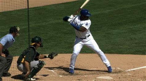 baseball swing load la dodgers phenom yasiel puig hitting mechanics case study