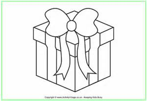 coloring pages of a christmas present christmas present colouring page 2