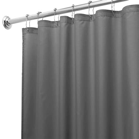 charcoal shower curtain interdesign 72 in x 72 in poly shower curtain in liner