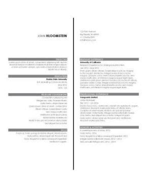 simple resume format for lecturer internship resume template word resume ideas