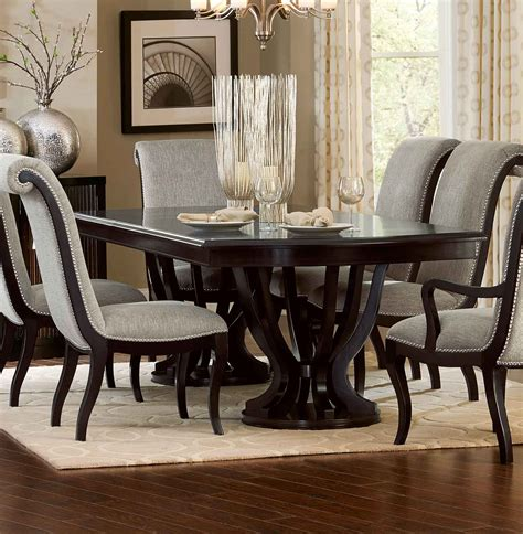 espresso dining table with leaf homelegance savion dining set espresso 5494 106 din set