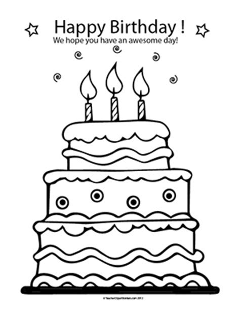 happy birthday coloring page for teacher teacher birthday cliparts free download clip art free