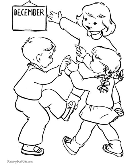 Christmas Coloring Pages For Kids It S December December Coloring Page